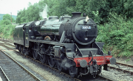Black Five 44767 auf der NYMR in Grosmont im August 2000